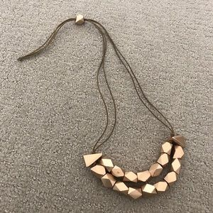 ETSY GOLD WOODEN NECKLACE